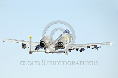 A-10USAF 00038 A flying Fairchild A-10 Thunderbolt II USAF attack jet SP code military airplane picture by Peter J Mancus