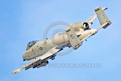 A-10USAF 00014 A flying Fairchiled A-10 Thunderbolt II USAF attack jet OT code military airplane picture by Peter J Mancus
