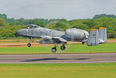 A-10USAF 00022 A Fairchild A-10 Thunderbolt II USAF attack jet SP code take-off military airplane picture by Peter J Mancus