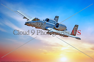 "A-10-USAF-OT 0006 A flying Fairchild Republic A-10 Thunderbolt II ""Warthog"" OT code USAF flying tank buster military airplane picture by Peter J  Mancus     DONEwt"