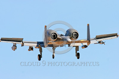 A-10USAF 00018 A landing Fairchild A-10 Thunderbolt II USAF attack jet military airplane picture by Peter J Mancus