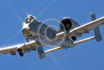 A-10USAF 00006 A flying Fairchild Republic A-10 Thunderbolt II Warthog USAF attack jet military airplane picture by Peter J Mancus