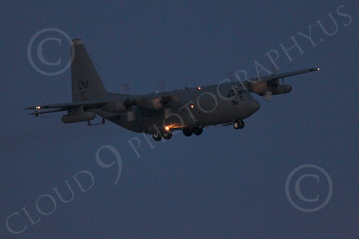 C-130USAF 00052 Lockheed C-130 Hercules USAF at night military airplane picture by Peter J Mancus