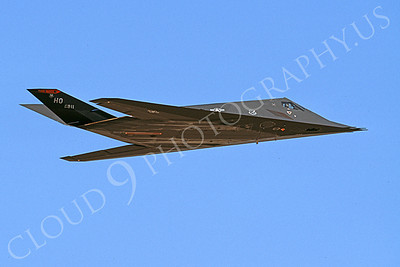F-117 00022 A flying Lockheed F-117 Nighthawk USAF 811 HO code 6-2003 airplane picture by Michael Grove, Sr