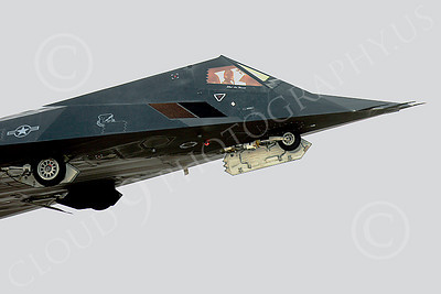 F-117 00018 USAF Lockheed F-117 Nighthawk stealth fighter, by Peter J Mancus