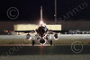 F-16USAF 04667 A Lockheed F-16 Viper jet fighter USAF taxis at night at Nellis AFB 7-2014 military airplane picture by Peter J Mancus