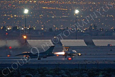 AB-F-16USAF 00021 USAF Lockheed Martin F-16 Fighting Falcon Nellis AFB by Peter J Mancus