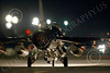 F-16USAF 04011 A USAF Lockheed F-16 Viper jet fighter taxis at night at Nellis AFB 7-2014 military airplane picture by Peter J Mancus