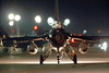 F-16USAF 04017 Rear view of a taxing USAF Lockheed F-16 Viper jet fighter at night at Nellis AFB 7-2014 military airplane picture by Peter J Mancus