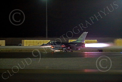 AB-F-16USAF 00027 An AV tail code USAF Lockheed F-16 Viper jet fighter in full afterburner at night at Nellis AFB 7-2014 military airplane picture by Peter J Mancus