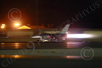 AB-F-16USAF 00059 An AV tail code USAF Lockheed F-16 Viper jet fighter in full afterburner at night at Nellis AFB 7-2014 military airplane picture by Peter J Mancus
