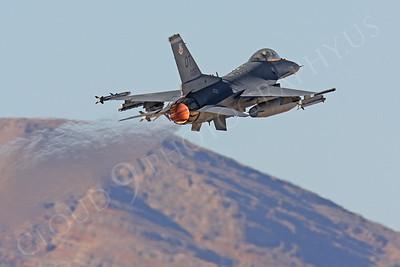 AB-F-16USAF 00070 Lockheed Martin F-16 Fighting Falcon Viper USAF 97106 Nellis AFB by Peter J Mancus
