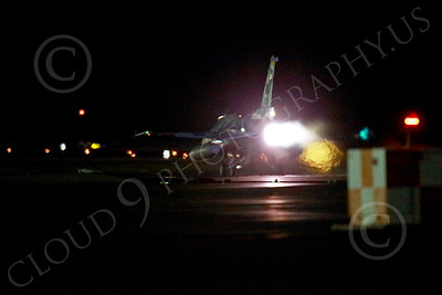 AB-F-16USAF 00067 A USAF Aggressor Lockheed F-16 Viper jet fighter in full afterburner at night at Nellis AFB 7-2014 military airplane picture by Peter J Mancus