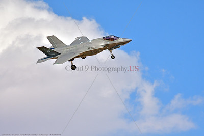 F-35-USAF-EG 0010 A landing Lockheed Martin F-35A Lightning II USAF stealth jet fighter 5026 EG code 7-2015 military airplane picture by Peter J  Mancus     DONEwt