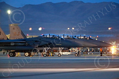F-15EUSAF 00799 Static SJ code USAF McDonnell Douglas F-15E Strike Eagles at EOR for a night Red Flag mission at Nellis AFB 7-2014 military airplane picture by Peter J Mancus