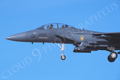 CUNMJ 00254 McDonnell Douglas F-15E Strike Eagle USAF with 9-11 nose art 2002 by Peter J Mancus