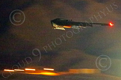 WWAN 00027 A Northrop B-2 Spirit USAF stealth strategic bomber climbs out during take-off from Nellis AFB for a night Red Flag mission military airplane picture by Peter J Mancus