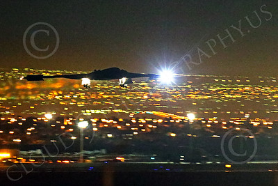 WWAN 00034 A Northrop B-2 Spirit USAF stealth strategic bomber lands at Nellis AFB after a night Red Flag mission military airplane picture by Peter J Mancus