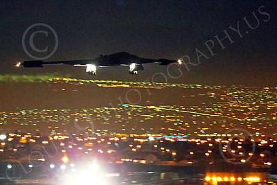 WWAN 00044 A Northrop B-2 Spirit USAF stealth strategic bomber lands at Nellis AFB after a night Red Flag mission military airplane picture by Peter J Mancus