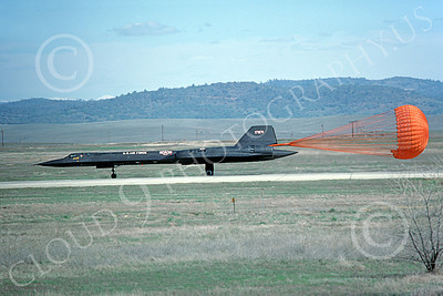 SR-71 00019 Lockheed SR-71A Blackbird USAF 17971 Beale AFB March 1977, by Michael Grove, Sr
