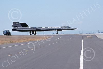 SR-71 00007 Lockheed SR-71A Blackbird USAF 17961 Beale AFB Aug 1978, by Michael Grove, Sr