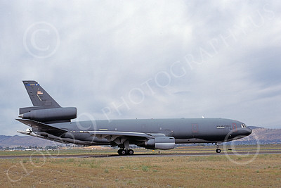 KC-10USAF 00033 A taxing McDonnell Douglas KC-10 Extender USAF 91949 March AFB 8-1983 military airplane picture by Michale Grove, Sr