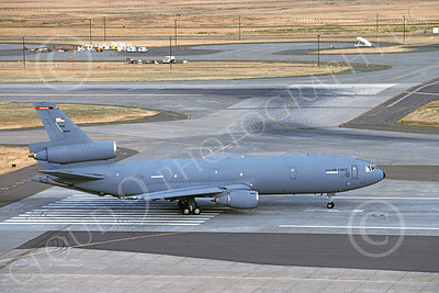 KC-10USAF 00015 A taxing USAF Douglas KC-10 Extender 91946 Travis AFB 7-1997 military airplane picture by Carl Porter