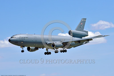 KC-10USAF 00006 A Douglas KC-10 EXTENDER USAF 30080 from Travis AFB jet aerial refueler and cargo transport aircraft on final approach to land at NAS Fallon 4-2016 military airplane picture by Peter J  Mancus D