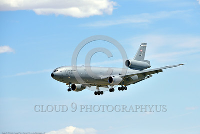 KC-10USAF 00002 A Douglas KC-10 EXTENDER USAF 30080 from Travis AFB jet aerial refueler and cargo transport aircraft on final approach to land at NAS Fallon 4-2016 military airplane picture by Peter J  Mancus