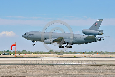 KC-10USAF 00003 A Douglas KC-10 EXTENDER USAF 30080 from Travis AFB jet aerial refueler and cargo transport aircraft lands at NAS Fallon 4-2016 military airplane picture by Peter J  Mancus