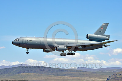 KC-10USAF 00010 A Douglas KC-10 Extender USAF 30080 from Travis AFB lands at NAS Fallon 4-2016 military airplane picture by Peter J  Mancus