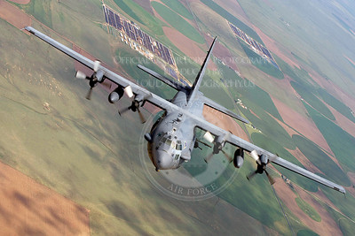 An AC-130 Spectre from the 16th Special Operations Squadron flies a training mission Aug. 11, 2010, at Cannon Air Force Base, N. M. (U.S. Air Force photo/Master Sgt. Jack Braden).