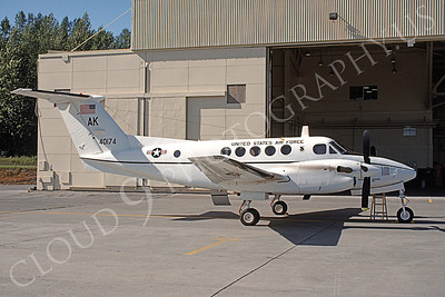 C-12USAF 00008 A static Beech C-12F USAF 40174 AK code airplane picture by Michael Grove, Sr