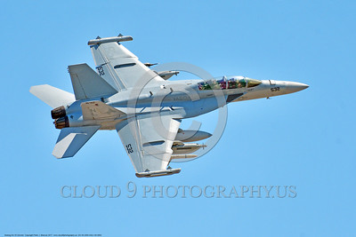 EA-18-USN-VAQ-134 0002 A flying Boeing EA-18 Growler electronic warfare jet VAQ-134 GARUDAS 7-2017 military airplane picture by Peter J  Mancus     DONEwt