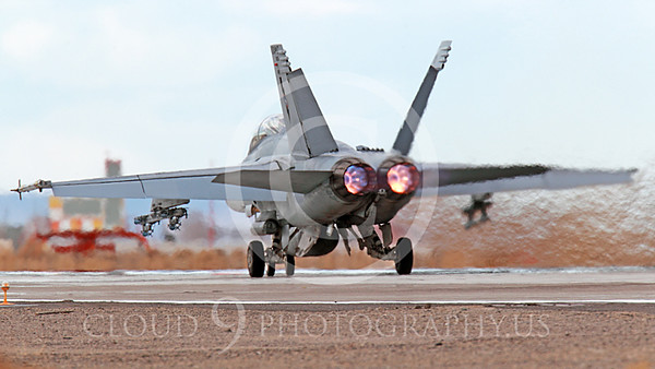 AB-F-18USN-S 00099 A Boeing F-18F Super Hornet takes off NAS Fallon 3-2013 military airplane picture by Peter J Mancus