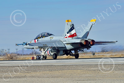 Boeing F-18F-USN 00319 A Boeing F-18F Super Hornet USN VFA-2 BOUNTY HUNTERS CAG NE code commanding officer's airplane USS Ronald Reagan takes off in afterburner at NAS Fallon 2-2015 military airplane picture by Peter J Mancus