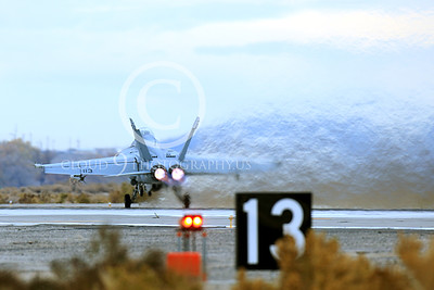 AB-F-18USN-S 00024 A Boeing F-18F Super Hornet USN takes-off in afterburner NAS Fallon 11-2013 military airplane picture by Peter J Mancus
