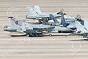 Boeing F-18F-USN 00255 A Boeing F-18F Super Hornet jet fighter US Navy VFA-41 BLACK ACES CAG taxis at NAS Fallon with folded wings 1-2015 military airplane picture by Peter J Mancus