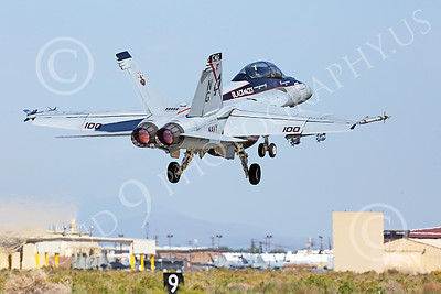AB-F-18USN-S 00036 A Boeing F-18F Super Hornet jet fighter USN VFA-41 Black Aces CAG USS John C Stennis takes off in aftrburner at NAS Fallon 7-2014 military airplane picture by Peter J Mancus
