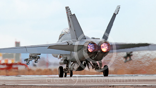 AB-F-18USN-S 00041 A Boeing F-18F Super Hornet takes off NAS Fallon 3-2013 military airplane picture by Peter J Mancus