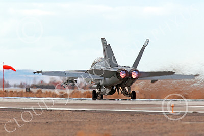 AB-F-18USN-S 00003 A Boeing F-18F Super Hornet takes off NAS Fallon 3-2013 military airplane picture by Peter J Mancus