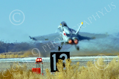Boeing F-18F-USN 00298 A Boeing F-18F Super Hornet USN VFA-2 BOUNTY HUNTERS CAG NE code commanding officer's airplane USS Ronald Reagan takes off in afterburner at NAS Fallon 2-2015 military airplane picture by Peter J Mancus