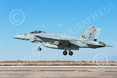 Boeing F-18E-USN 00014 A Boeing F-18E Super Hornet jet fighter with large bomb USN 166782 VFA-31 TOMATTERS USS George H W Bush AJ code lands at NAS Fallon 10-2013 military airplane picture by Peter J Mancus