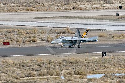 F-18E-USN-VFA-115 0009 A Boeing F-18E Super Hornet USN jet fighter 166859 VFA-115 EAGLES commanding officer's airplane USS Ronald Reagan rolls out after landing at NAS Fallon 3-2017 military airplane picture by Peter J Mancus     DONEwt