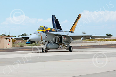 Boeing F-18E-USN 00003 A Boeing F-18E Super Hornet jet fighter USN VFA-151 Vigilantes taxis at NAS Fallon 7-2014 military airplane picture by Peter J Mancus