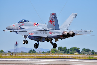 F-18E-USN-VF-131 002 A Boeing F-18E Super Hornet jet fighter USN 168909 VF-131 WILDCATS CAG USS Dwight Eisenhower AC code landing at NAS Fallon 7-2019, military airplane picture by Peter J  Mancus     851_0087     Dwt