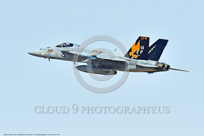F-18E-USN-VFA-115 0008 A flying Boeing F-18E Super Hornet USN jet fighter 166859 VFA-115 EAGLES commanding officer's airplane USS Ronald Reagan NAS Fallon 3-2017 military airplane picture by Peter J Mancus     DONEwt