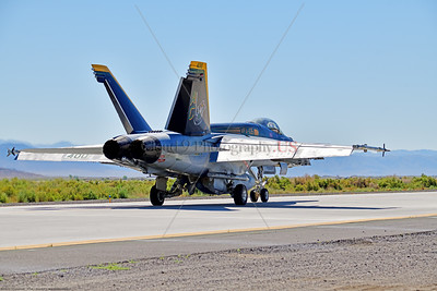 F-18E-USN-VF-105 007 A Boeing F-18E Super Hornet jet fighter USN 166650 VF-105 GUNSLINGERS CAG USS Dwight Eisenhower AC code taxis at NAS Fallon 7-2019, military airplane picture by Peter J  Mancus     854_5131     Dwt