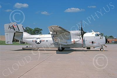 C-2 00059 A static Grumman C-2 Greyhound USN 162155 VRC-40 RAWHIDES USS Enterprise Andrews AFB 5-1995 military airplane picture by Ken Wilson