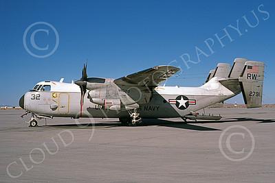 C-2 00053 A static Grumman C-2 Greyhound USN 152791 VRC-30 PROVIDERS RW code NAS Fallon 2-1986 military airplane picture by Michael Grove, Sr
